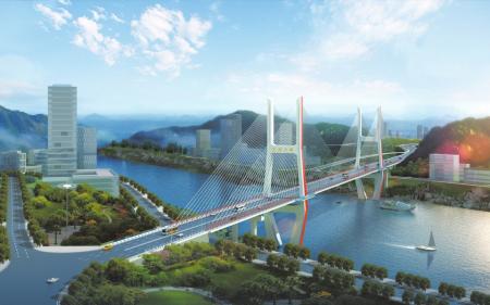 达州:金南大桥中跨即将合龙10月全面竣工