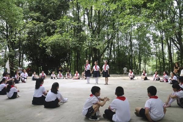 达州日报小记者调查大竹东湖公园体育设施现状纪实