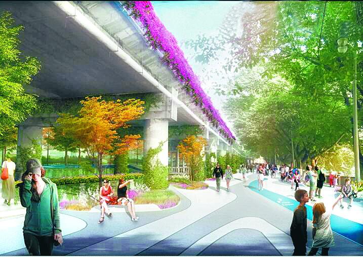 动工了!明年1月1日前,滨河游园红旗大桥至黄泥碥段将华丽亮相!