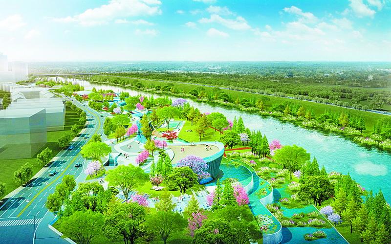 """投资4亿元打造北城""""绿肺"""" 柳家坝滨江湿地公园项目开建"""