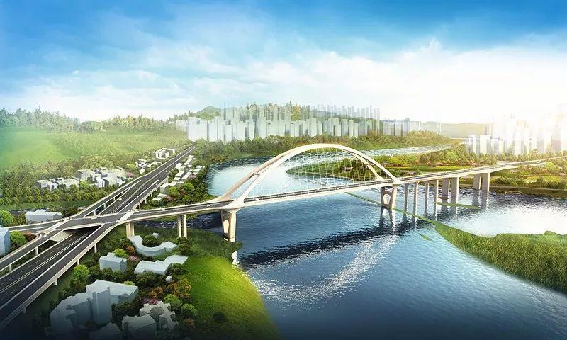 中坝州河大桥桥梁承台现雏形