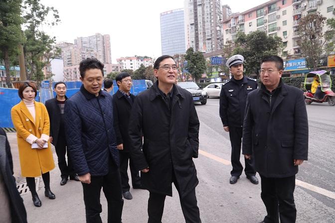 郭亨孝督导调研主城区市政基础设施建设及交通秩序管控工作