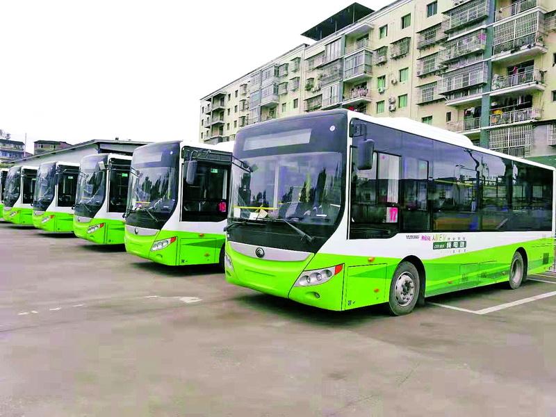 本月尾!渠县再投用19辆新动力公交车