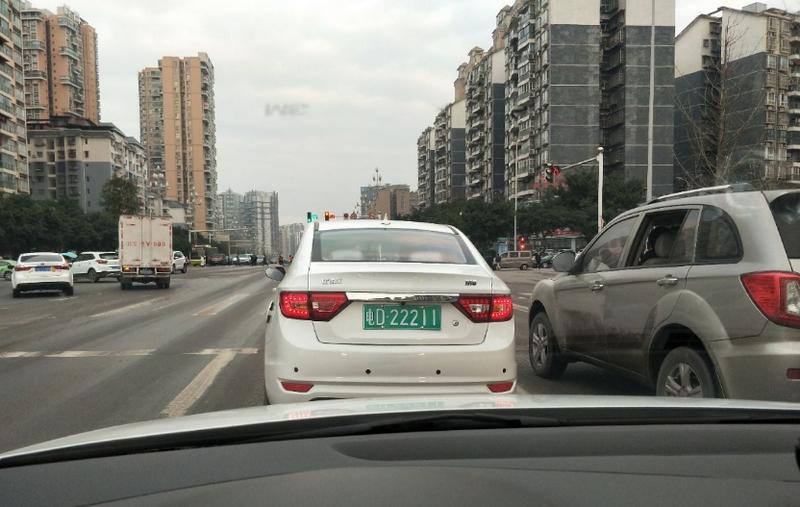 """达城街头现""""电D""""车牌 交警:禁止上路行驶"""