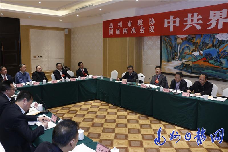 徐芝文参加达川区代表团审议、中共界讨论