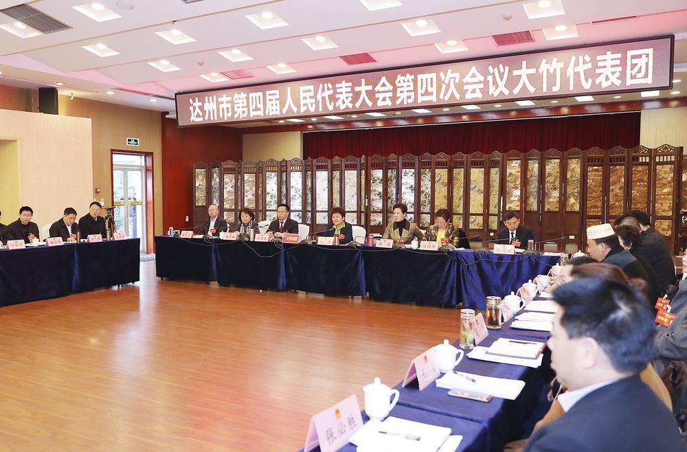 包惠参加大竹代表团审议
