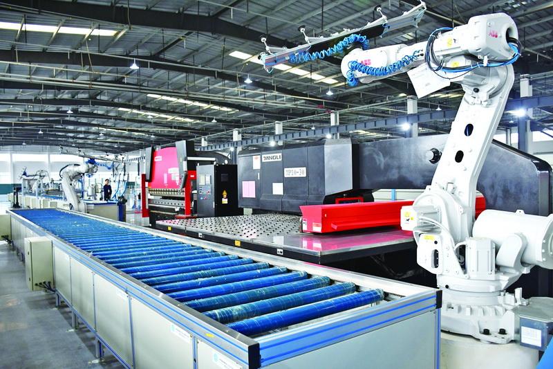 大竹县本土转型企业西南富士电梯有限公司开工投产