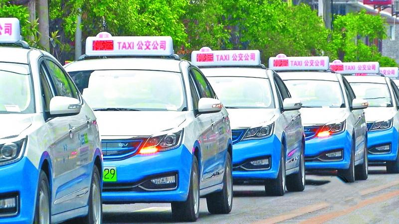 洋气!宣汉南坝迎来50辆纯电动出租车