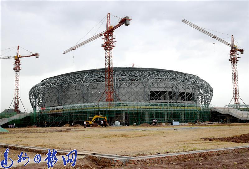 渠县体育馆主体建设即将竣工