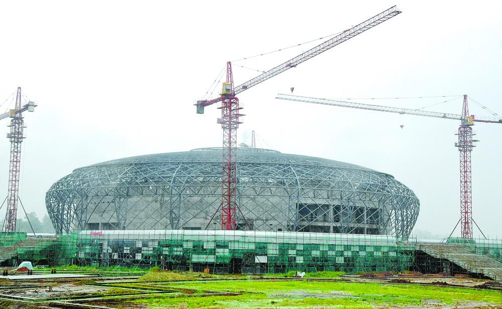 渠县体育馆有望今年9月底前完工