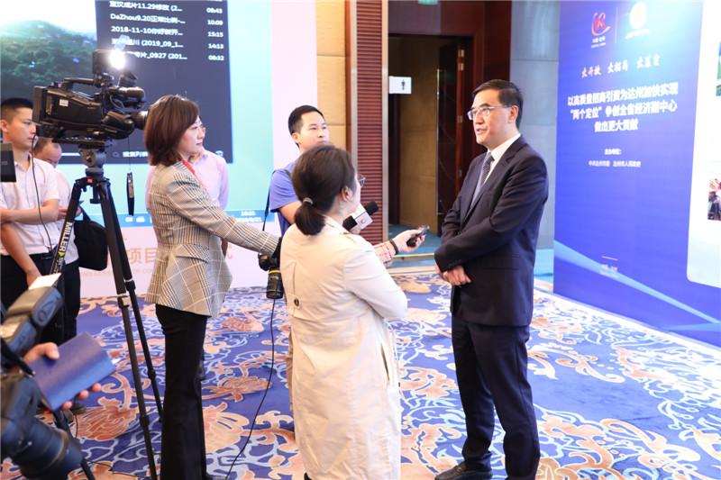 郭亨孝接受中央、省级媒体专访