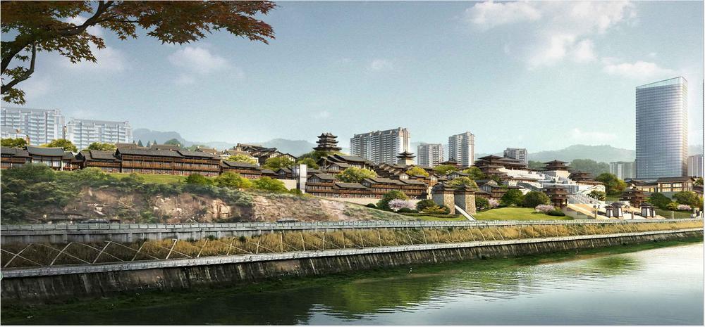 三里坪滨江景观带州河段预计年底全面竣工
