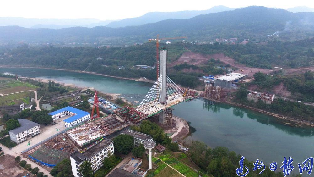 邊跨有望月底合龍!羅江大橋預計明年6月貫通