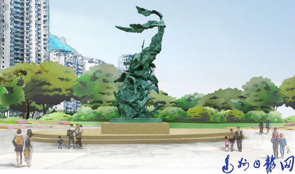 """奇怪!达城仙鹤路广场出现一座""""四不像""""雕塑"""