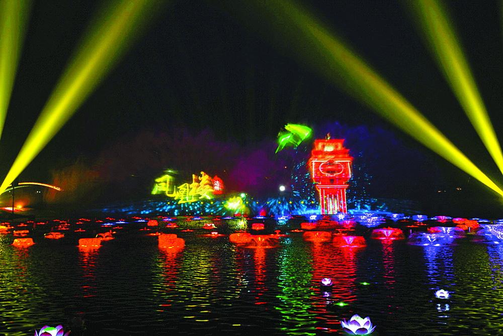 莲花湖水舞光影秀等着你!鼠年正月初一到十五,每晚两场