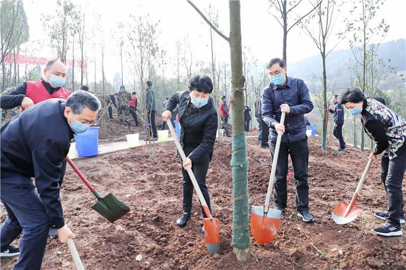 植树添新绿 满目尽是春!市领导带头参加春季义务植树活动