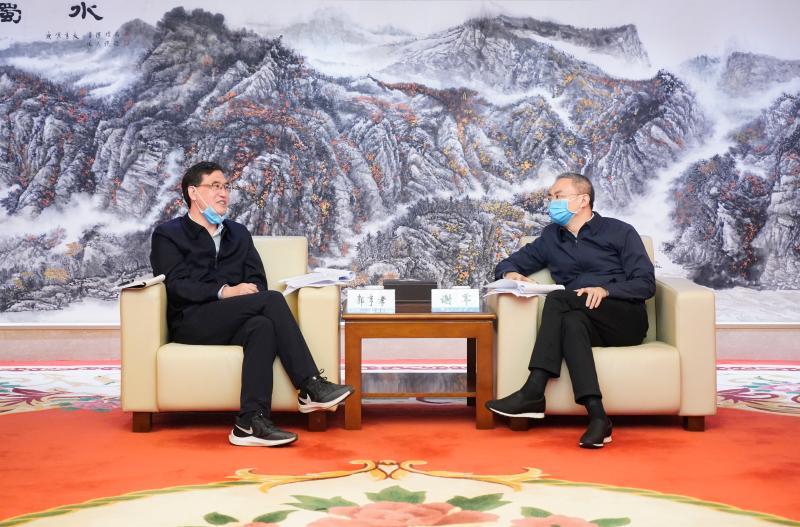 郭亨孝拜訪中石油西(xi)南(nan)油氣田公司領導(dao)