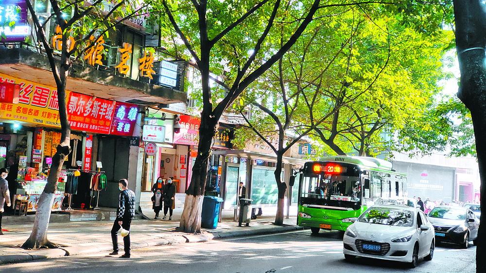 20路公交車語音(yin)播報音(yin)量有些大,每ke)燁宄點準時響起(qi)……