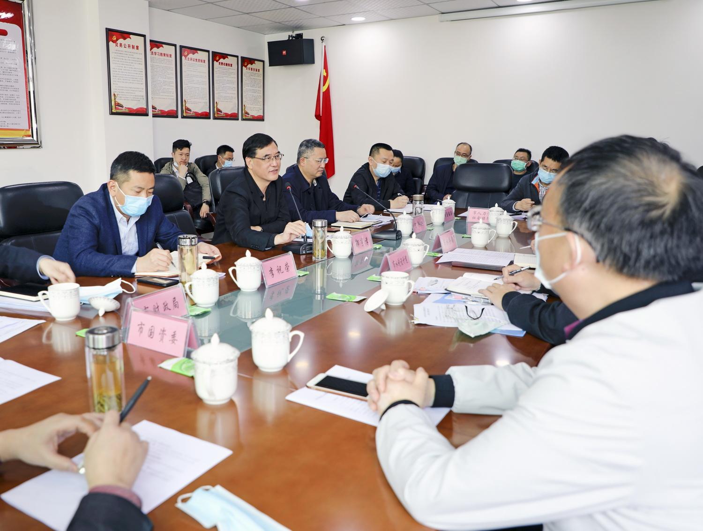 郭亨孝调研市水利电力建筑勘察设计院改革工作