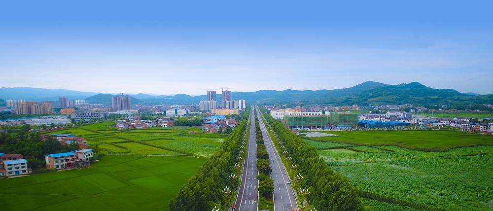 开江县南北环线初步建成