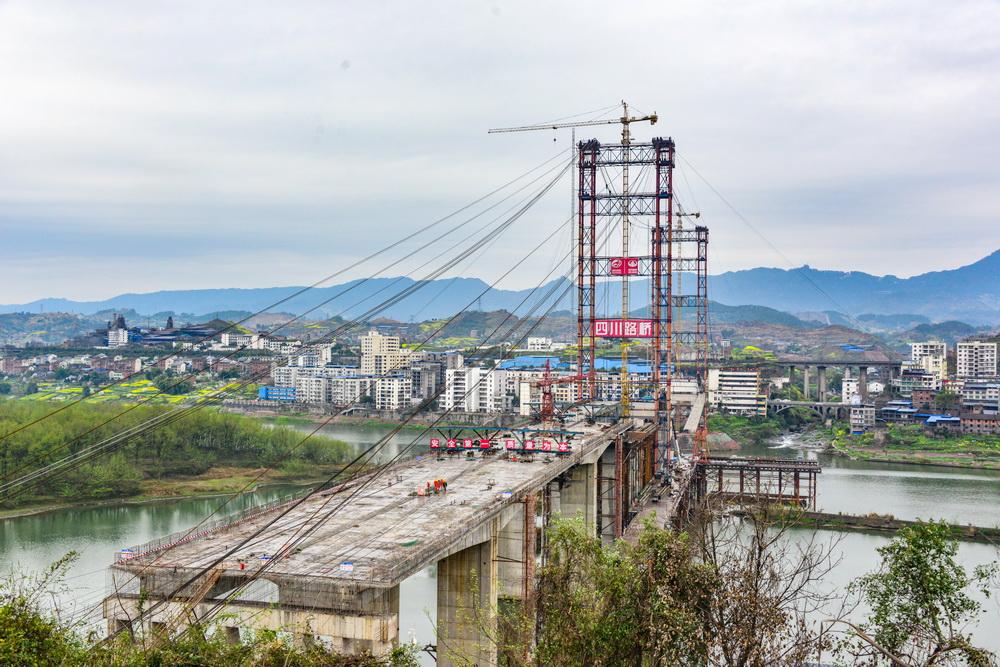 最新进展!中坝州河大桥建成这样了