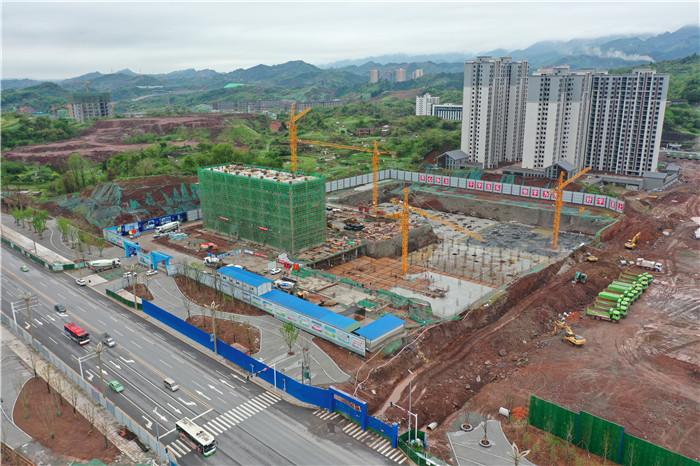 达州传媒中心(一期)预计7月底完成主体结构工程