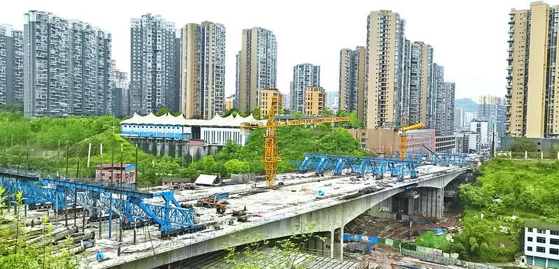 雷音铺大桥有望6月份整体完工
