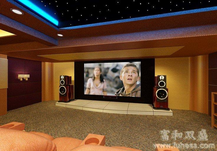 发表的自己家装修的家庭影院效果图,而影音公司网站上则是各