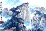 峡江春晓(中国画)杨召虎